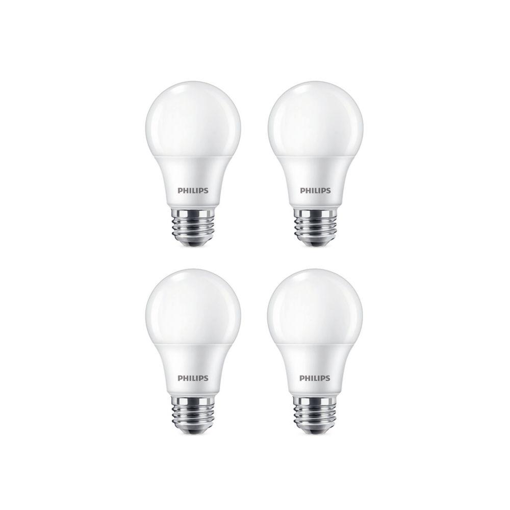 60W Soft White (2700K) A19 LED Light Bulb (4 Pack)
