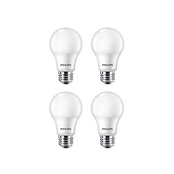 Philips 60W Daylight (5000K) A19 LED Light Bulb (4-Pack)