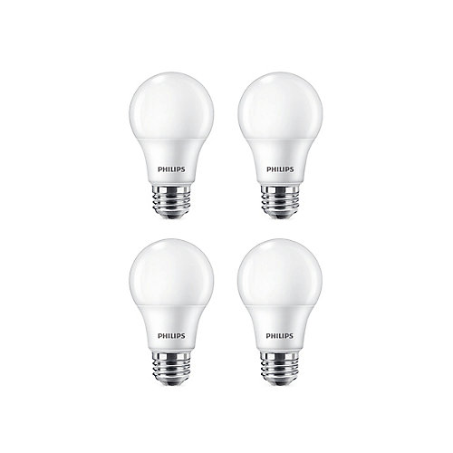 60W Daylight (5000K) A19 LED Light Bulb (4-Pack)