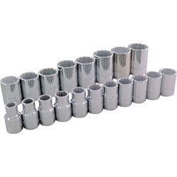 GRAY TOOLS 19-Piece Socket Set 1/2 Inch Drive 12 Point Standard Metric
