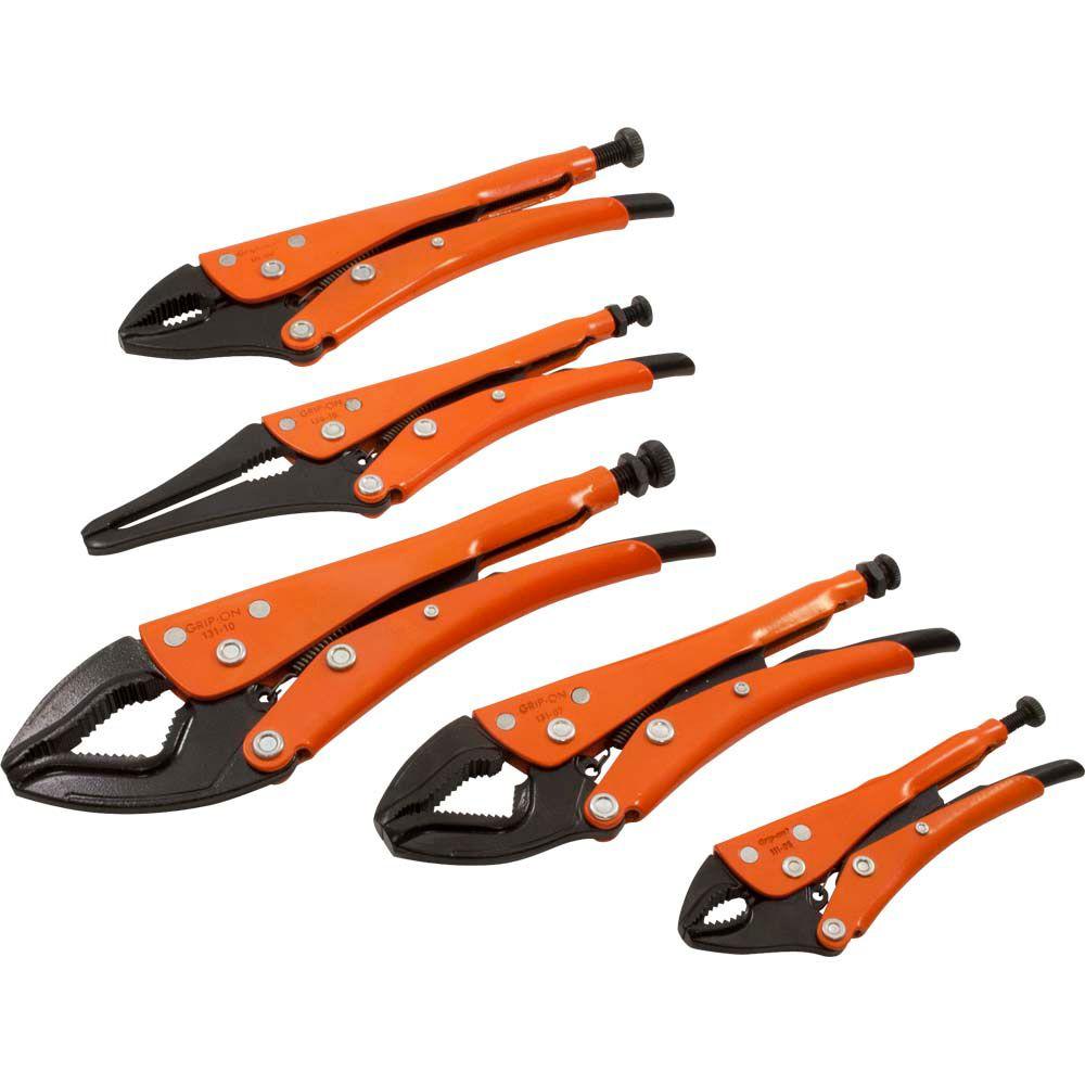 5 Piece General Locking Plier Grip Set