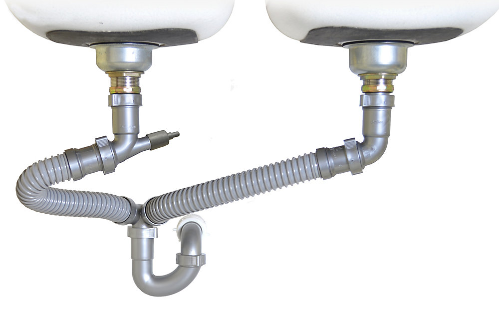 Superb Snappy Trap Drain Kit For Double Bowl Kitchen Sinks Home Interior And Landscaping Transignezvosmurscom