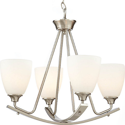 Home decorators collection stansbury collection 4 light brushed nickel chandelier the home depot canada