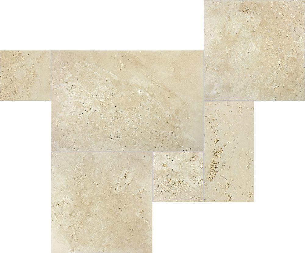 Ivory Travertine Straight Edge Tile (8.00 sq. ft../case)