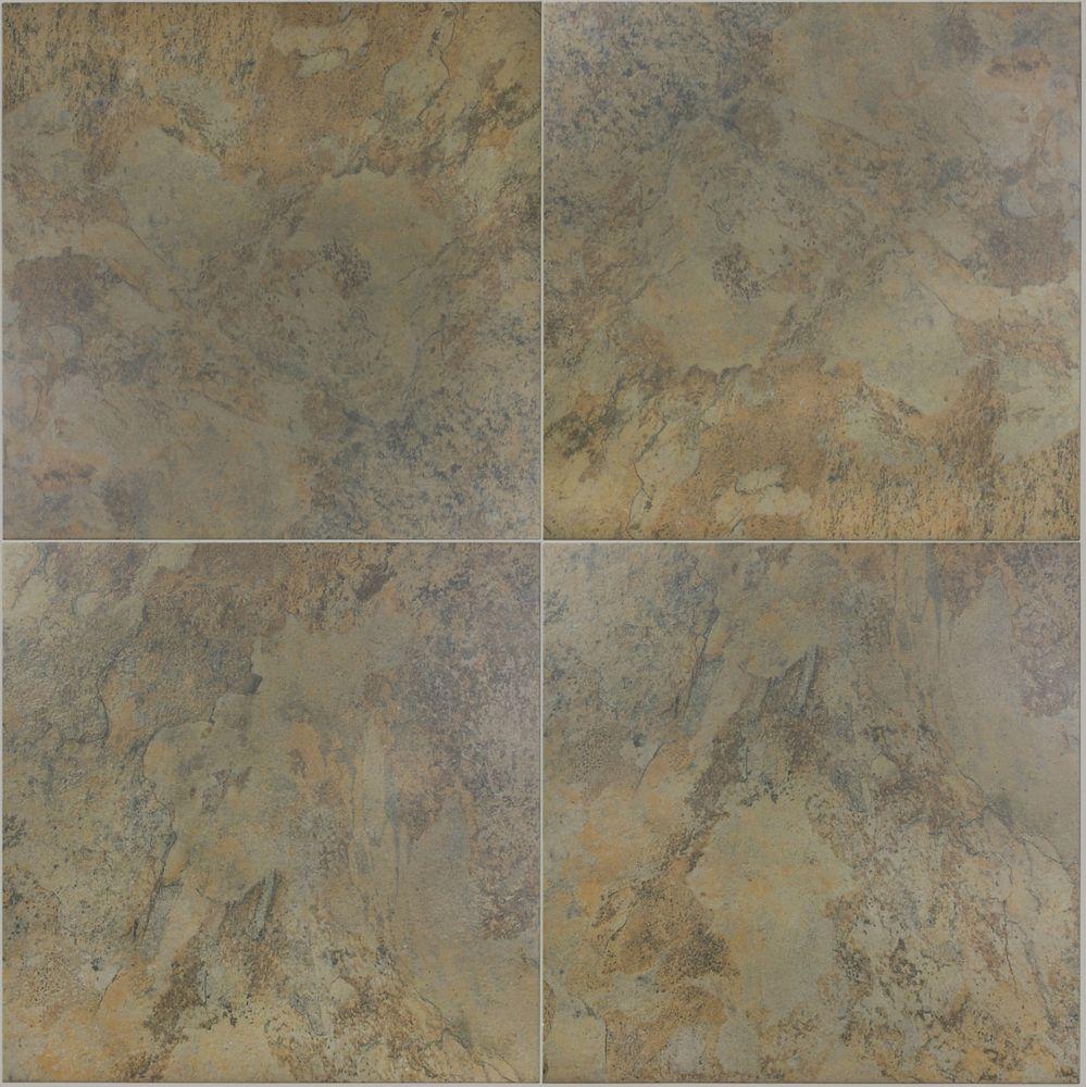 20x20 Tundra Olive carreaux de porcelaine - (16.68 Sq.Ft./Cas)