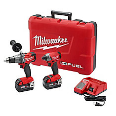 M18 FUEL 18V Lithium-Ion Brushless Cordless Hammer Drill/Impact Driver Combo Kit (2-Tool) w/(2) 5Ah Batteries, Case