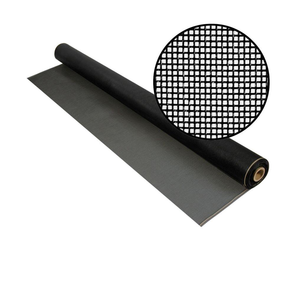 48-inch x 100 ft. Fiberglass Charcoal 20x20 Mesh Screen