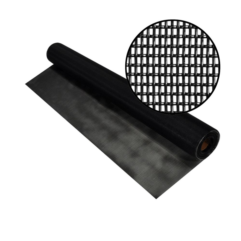 Screen Wire Rolls Of The Home Depot Canada Cost To Replace Aluminum Wiring Phifer 36 Inch X 50 Ft Black Pet
