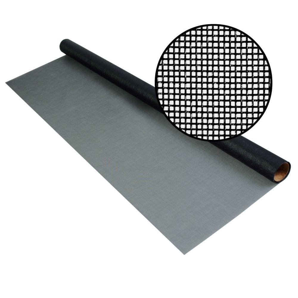 """Moust. noire 72""""x25' Treillis 20x20"""