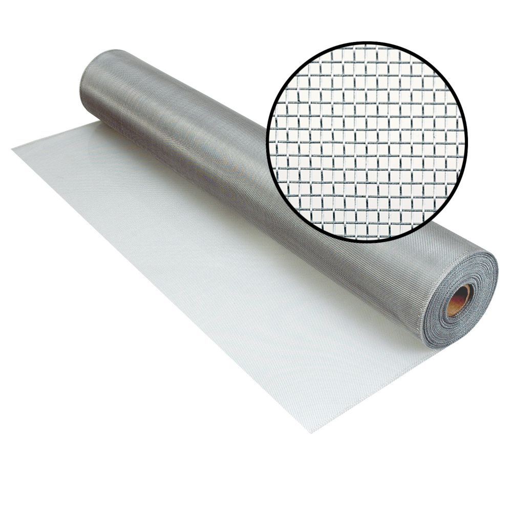 Phifer 48-inch x 100 ft. Brite Aluminum Screen