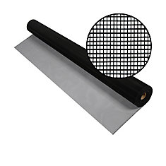 48-inch x 100 ft. Black Aluminum Screen