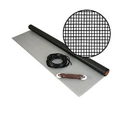 Phifer 36-inch x 25 ft. fibreglass Charcoal Screen Kit