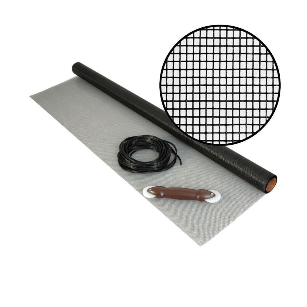 36-inch x 25 ft. Fiberglass Charcoal Screen Kit