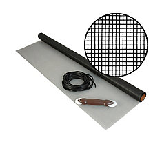48-inch x 25 ft. Fiberglass Charcoal Screen Kit