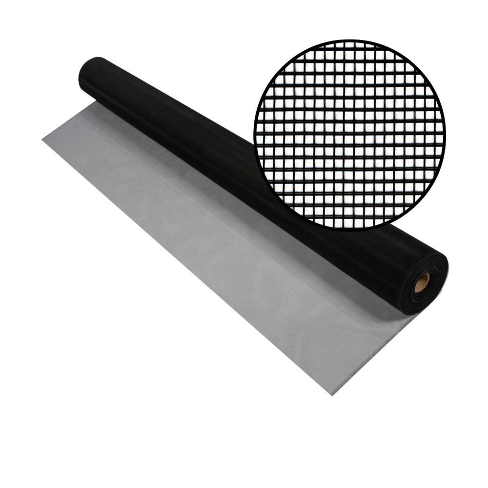Moustiquaire noire en aluminium 36x100