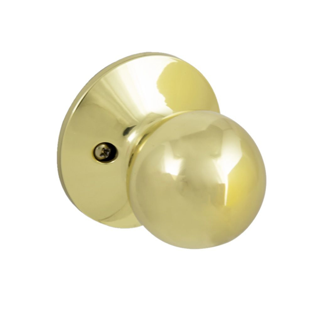 Defiant Saturn Polished Brass Dummy Door Knob