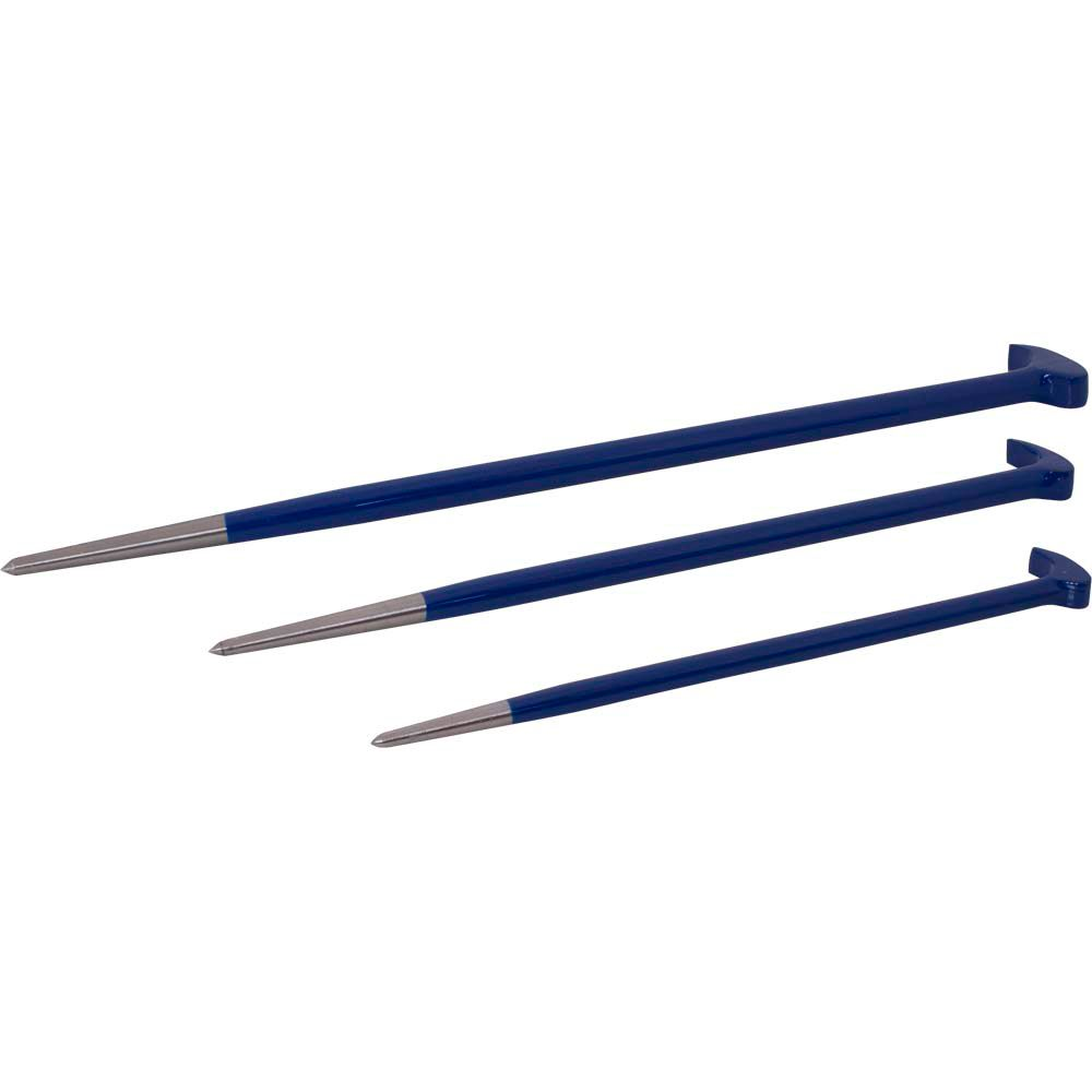 3 Piece Rolling Head Pry Bar Set