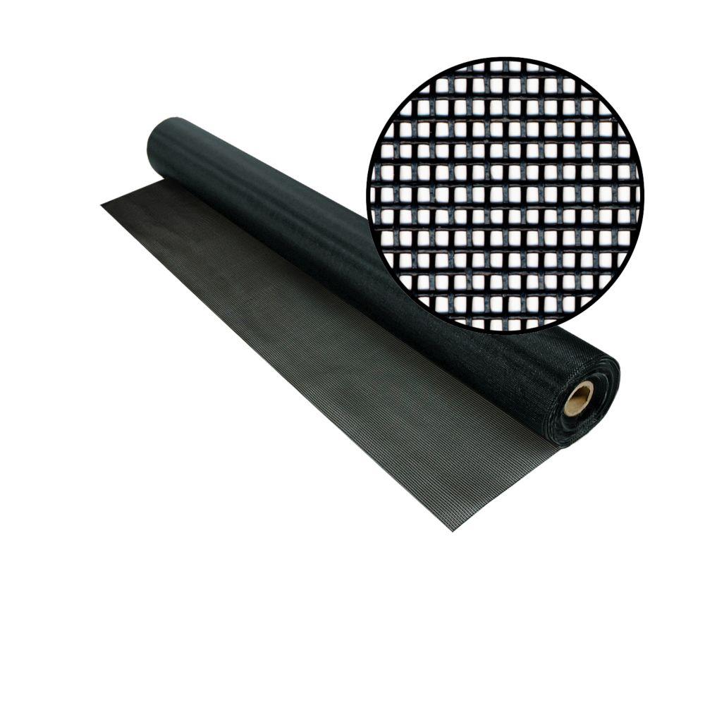 36-inch x 50 ft. Black Tuffscreen