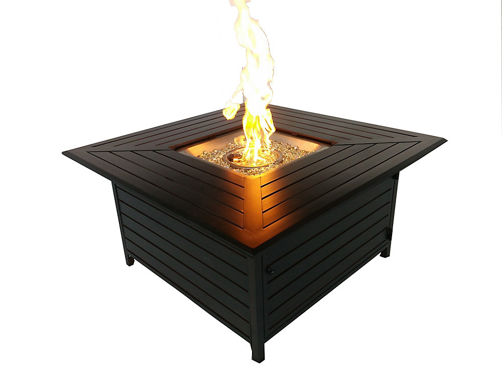 Paramount Square Outdoor Convertible Fire Pit Table | The ...