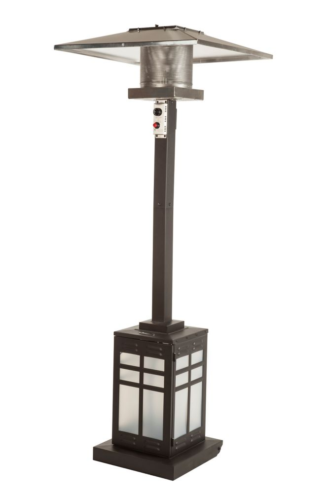 Square Illuminated Base Patio Heater