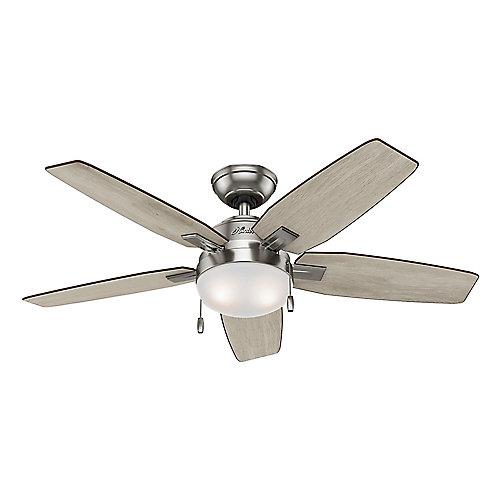 Antero 46-inch Indoor Ceiling Fan in Brushed Nickel