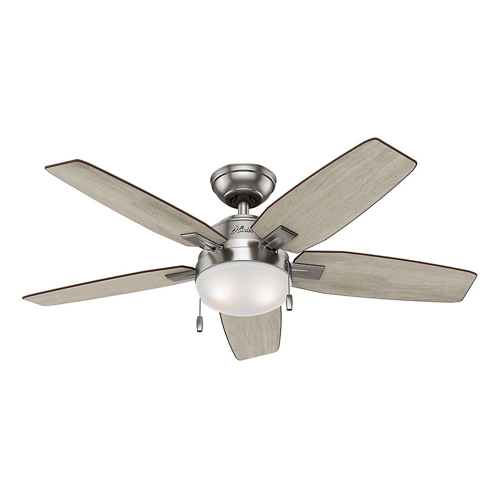 Ceiling fans hampton bay hunter more the home depot canada antero 46 inch brushed nickel indoor ceiling fan aloadofball Image collections