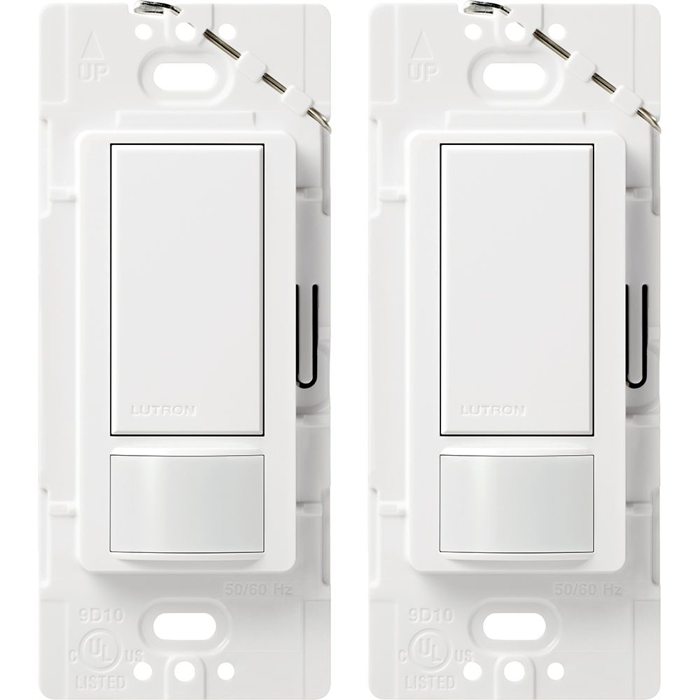 Maestro Single Pole Occupancy Motion Sensing Switch - White (2-Pack)