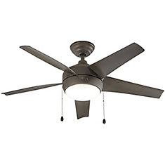 Windward 44 inch LED Oil Indoor Rubbed Bronze Ceiling Fan with Light Kit