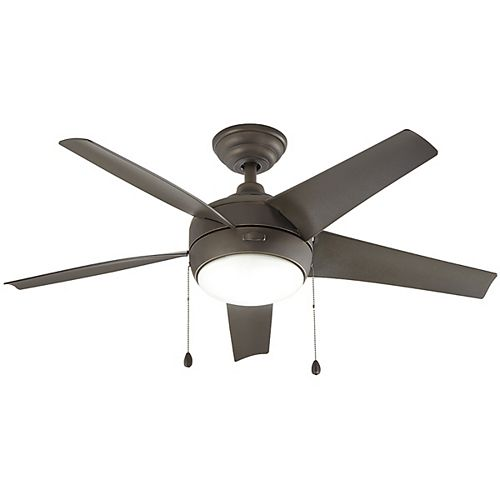 Home Decorators Collection Windward 44-inch LED Oil Rubbed Bronze Ceiling Fan with Light Kit