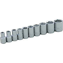 GRAY TOOLS 10-Piece Socket Set 1/4 Inch Drive 6 Point Standard Sae