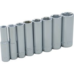 GRAY TOOLS 8-Piece Socket Set 1/4 Inch Drive 6 Point Deep Sae