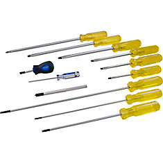 12-Piece Slotted Screwdriver Set