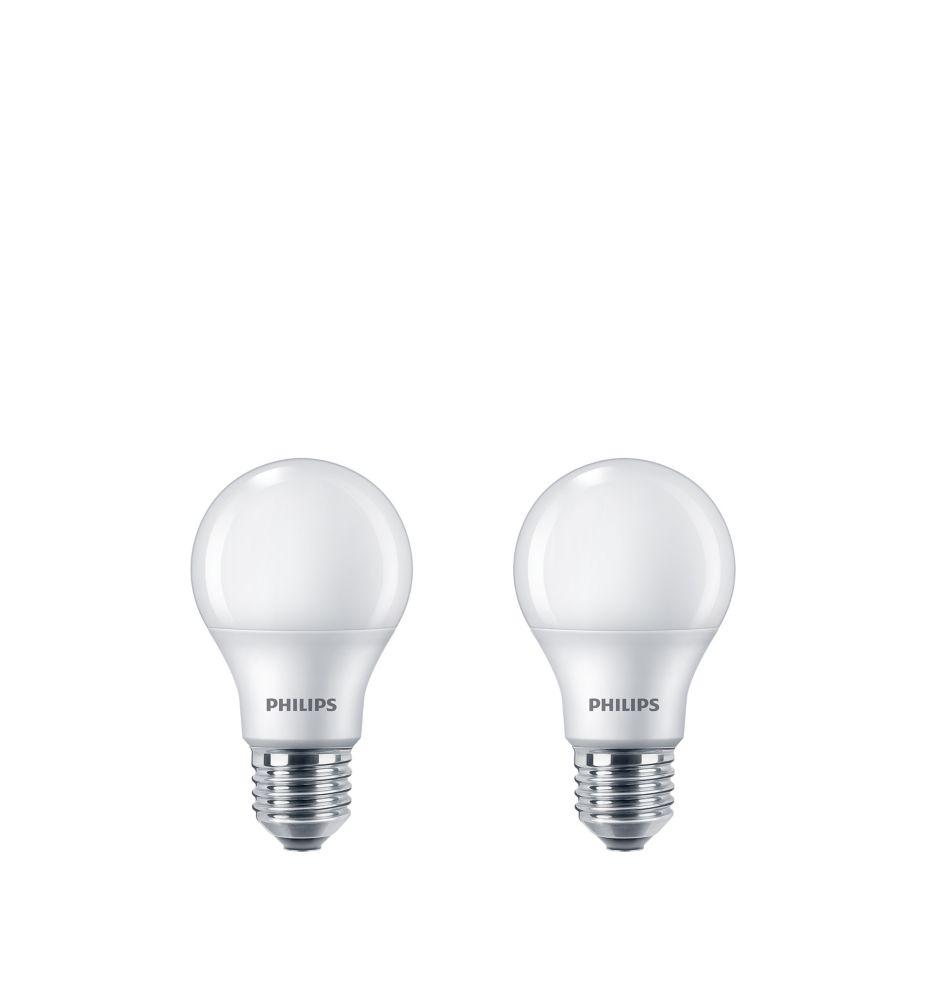 Lampe de menage A19 DEL 40 W - Lumierè du jour (5 000 K). Non-gradable. 2 paquet