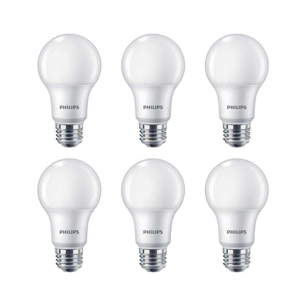 Lampe de menage décoratifs A19 DEL 60 W  À culot moyen.