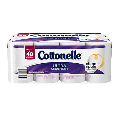 Cottonelle Ultra Comfort Care Double Roll Toilet Paper (24-Pack ...