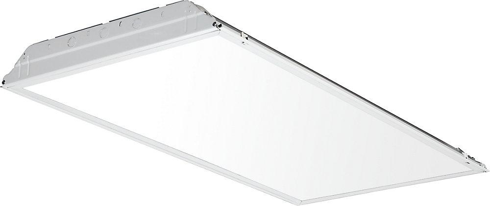 Chemin lumineux encastré DEL avec lentille blanche lissee de 0,60m (2pi)x1,21m (4pi)