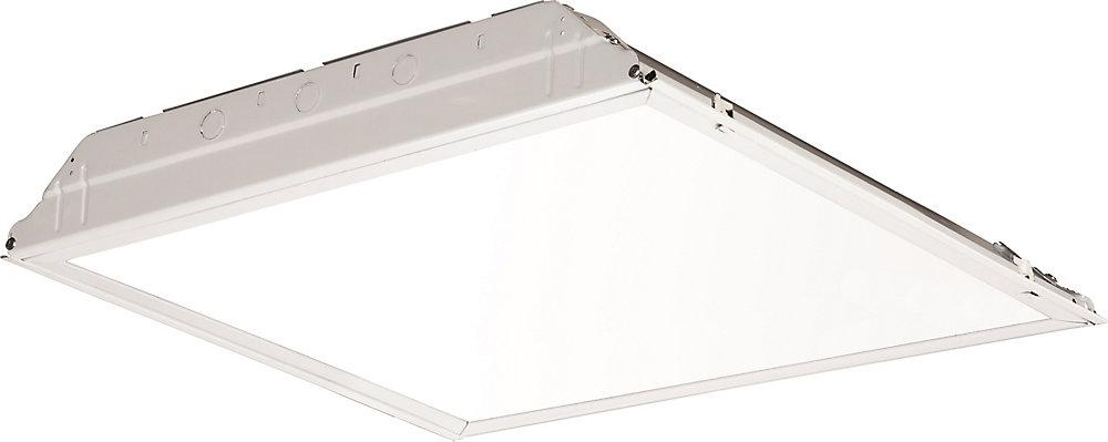 Chemin lumineux encastré DEL avec lentille blanche lissee de 0,60m (2pi)x0,60m (2pi)