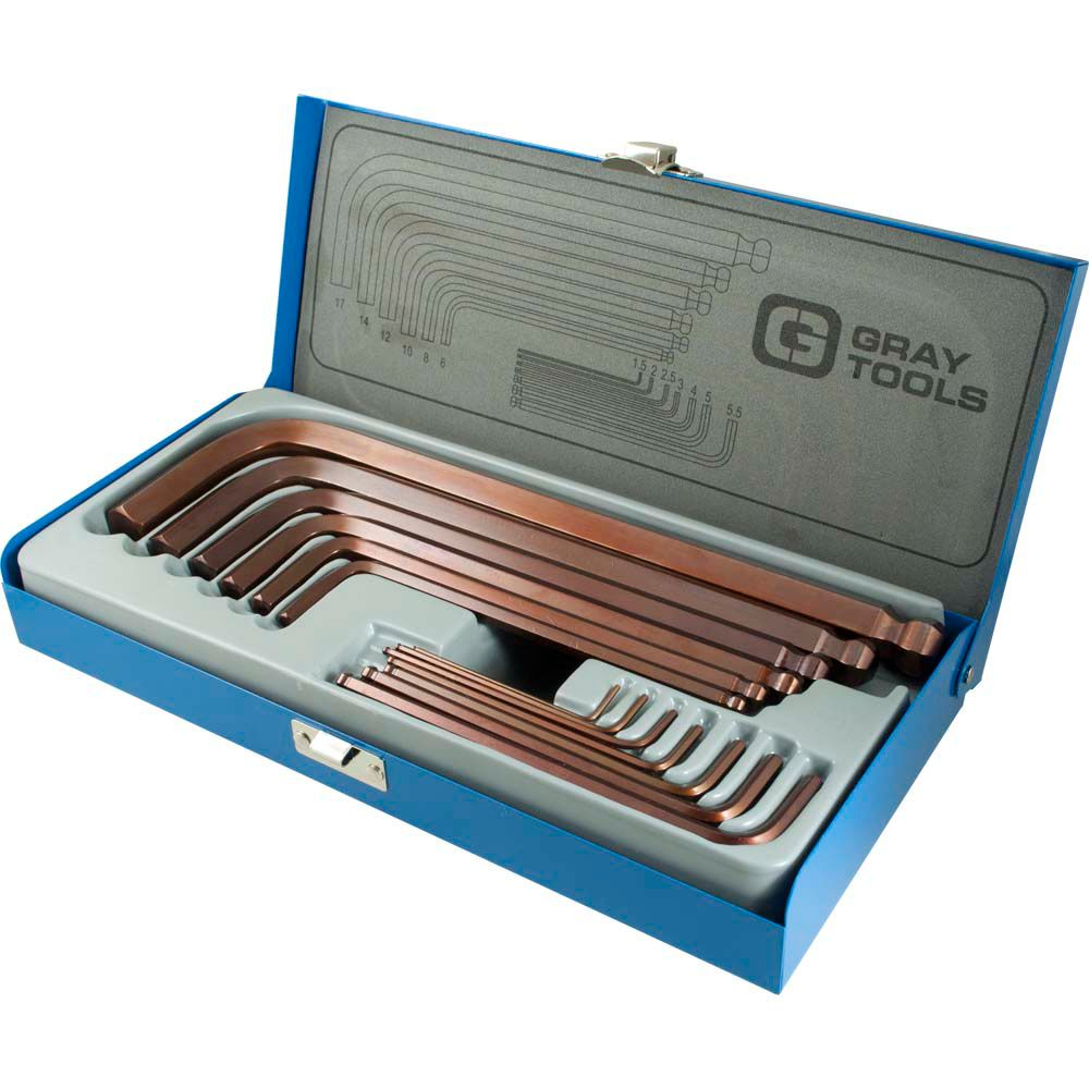 13 Piece Metric Long Arm Ball Hex Key Set
