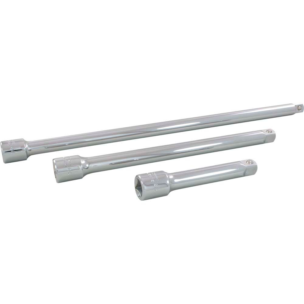 GRAY TOOLS Extension Set 3 Pieces 1/2 Inch Drive