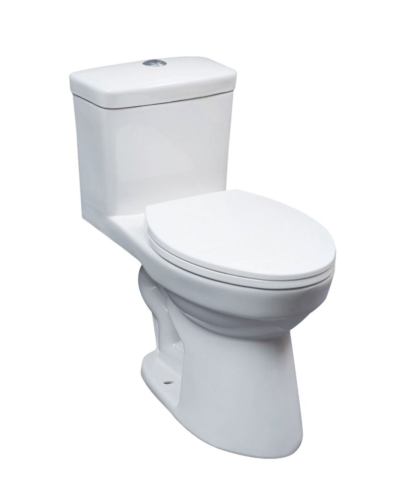 GLACIER BAY 1pc elongated ADA toilet DF 4/6L
