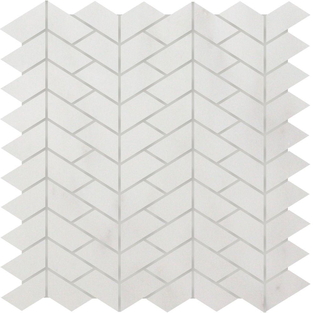 Verti Carrara Polished Mosaic Tile (5 Pack)