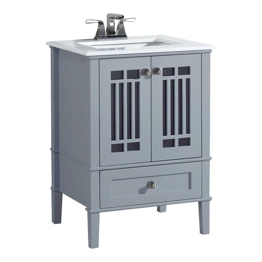 Meuble-lavabo Redford de 24 po, gris