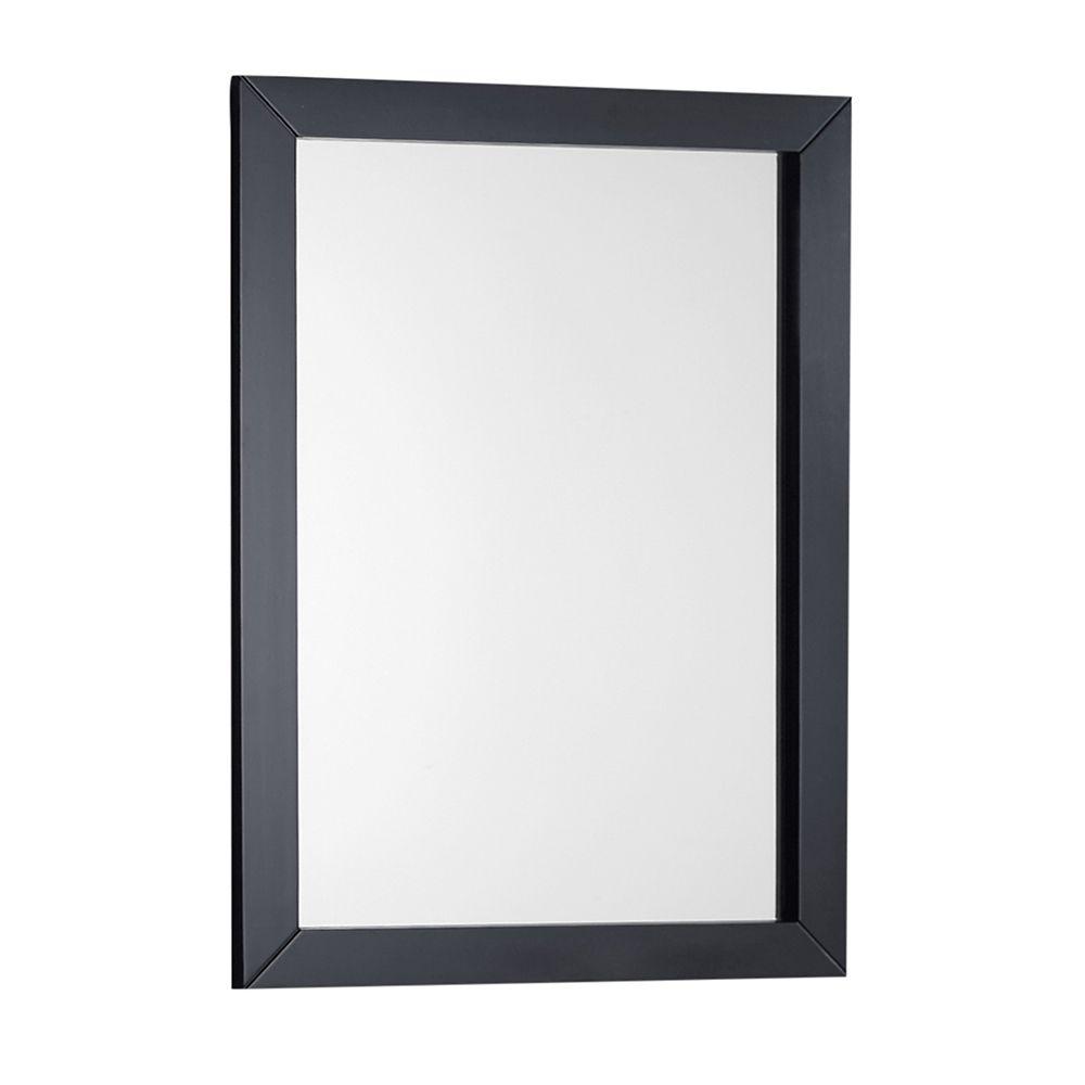 Winston 22 Inch  x 30 Inch  Black Bath Vanity Mirror