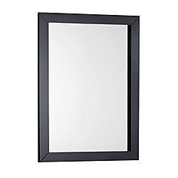 Winston 22-inch W x 30-inch L Single Wall Bath Vanity Mirror in Black