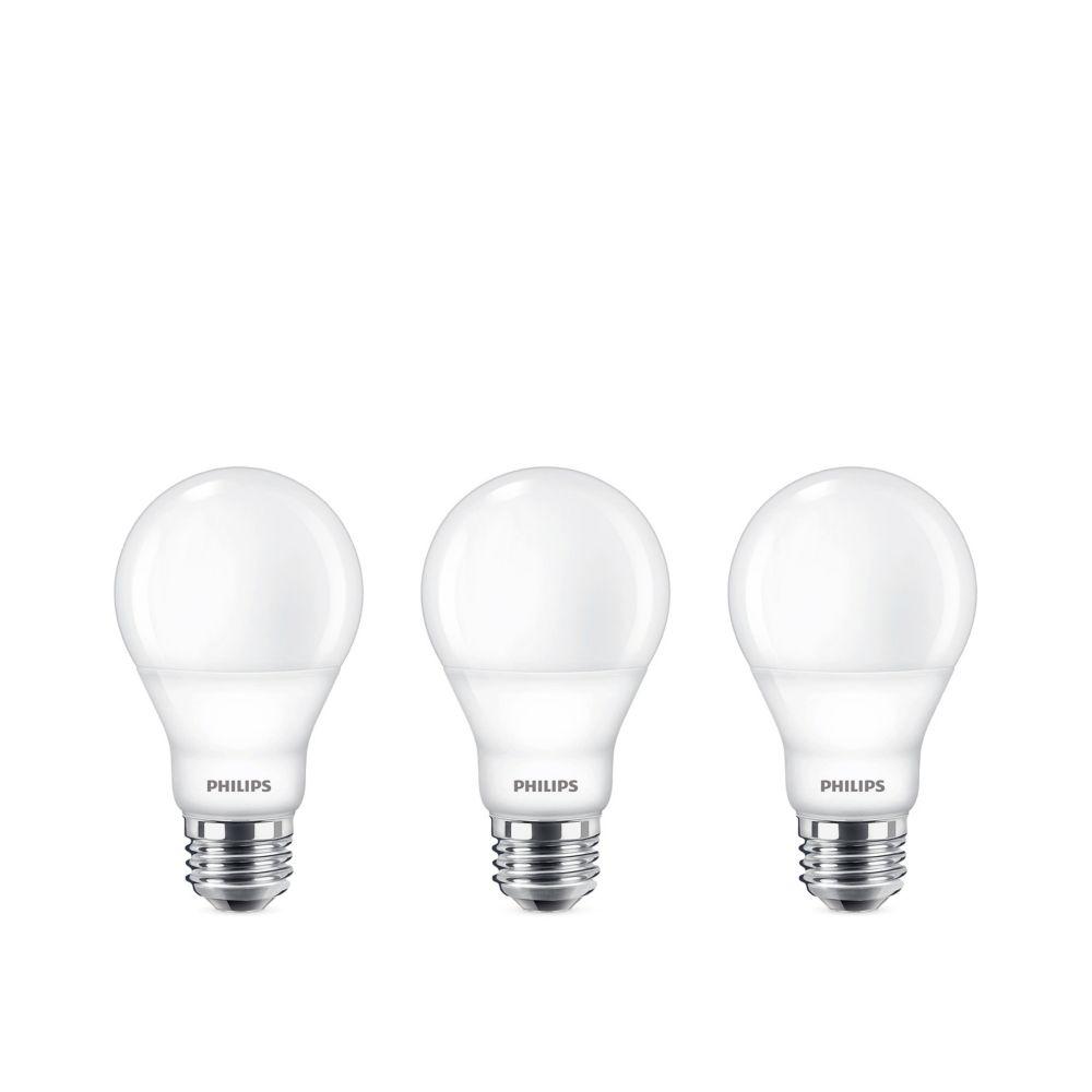 LED 60W A19 Bright White 3000K - 3 Pack