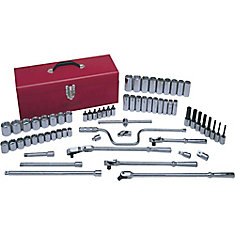 Socket & Attachments Set 67-Piece 1/2 Inch Drive 6 Point Standard Sae