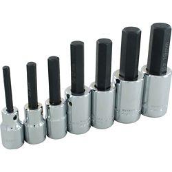 GRAY TOOLS 7-Piece Socket Set Hex Head 1/2 Inch Drive Standard Metric