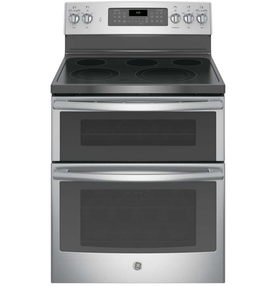 6.6 cu. ft. Free-Standing Double Oven Electric Range in Stainless Steel
