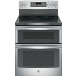GE 30-inch 6.6 cu. ft. Double Oven Electric Range with Self-Cleaning Convection Oven in Stainless Steel