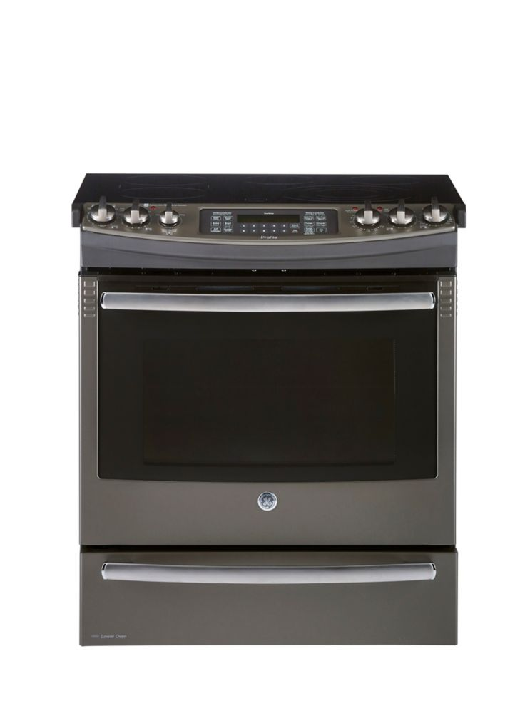 6.6 cu. ft. Slide-in Convection Electric Range in Slate